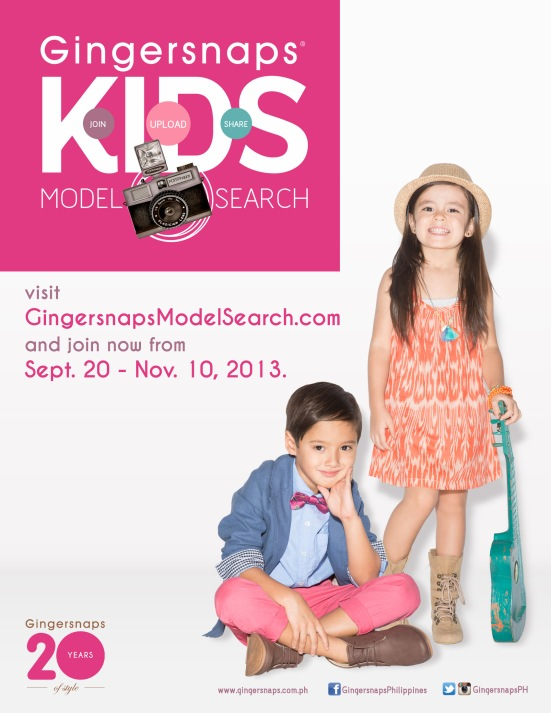 Gingersnaps Model Search Poster